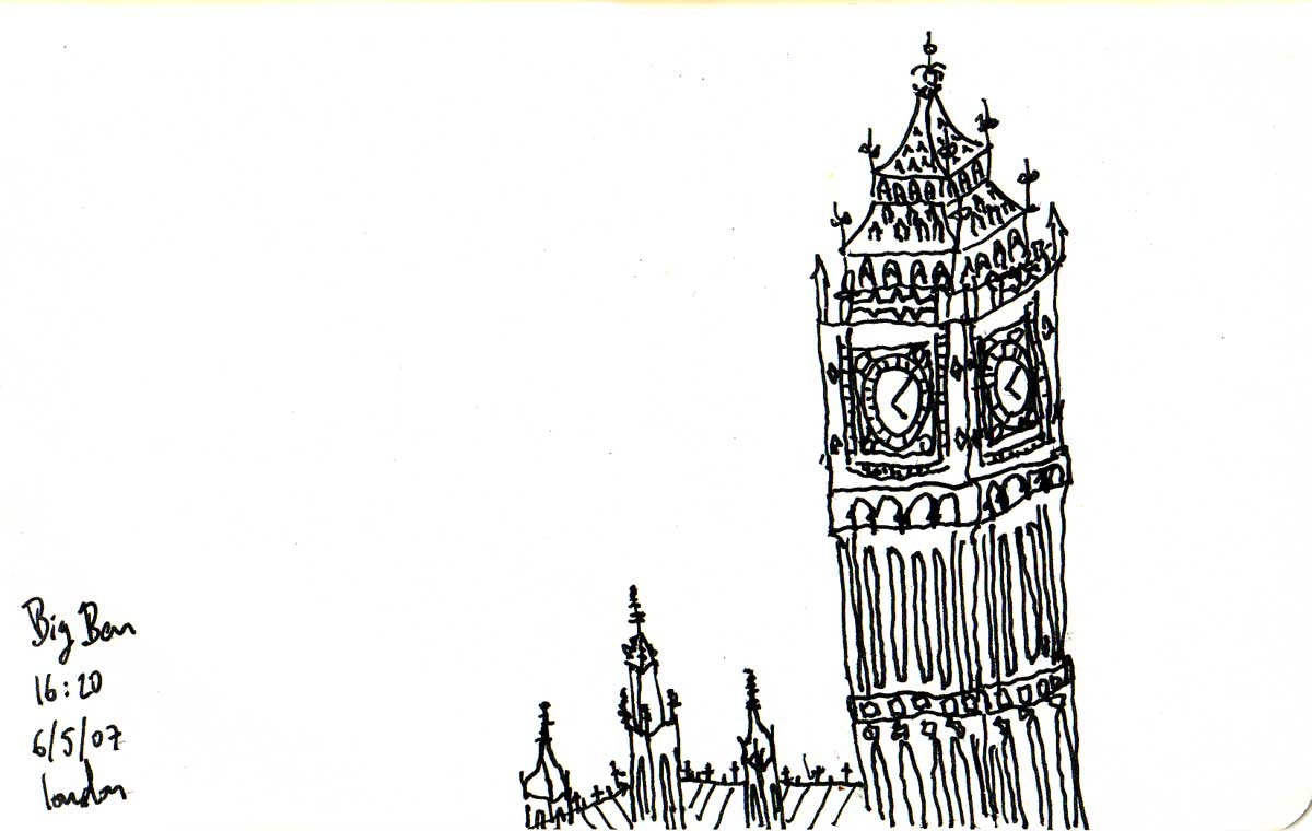 big ben doodle - photo #10